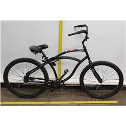 Hyper Black Men's Single Speed Cruiser Bike w/ Coaster Brakes