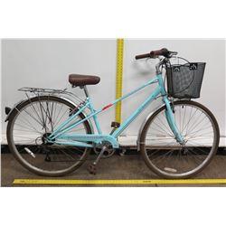 Schwinn Admiral 700C Blue Women's Hybrid Bike w/ Basket & Back Rack