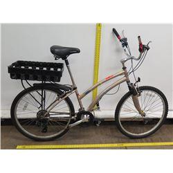 Landrider Auto Shift Women's Hybrid Mountain Road Bike w/ Back Basket