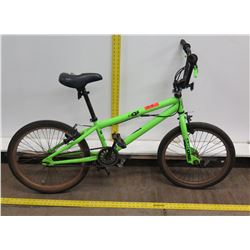"Mongoose MG One Green 20"" Boy's Freestyle Trick Bike"