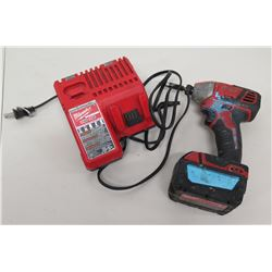Milwaukee Cordless Drill w/ M18 Battery Charger