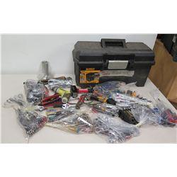 Multiple Misc Tools - Ryobi Drill, Hyper Tough Sledge Hammer, Ratchets, Sockets