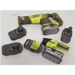 Ryobi One+ P51 Reciprocating Saw, Jigsaw & 4 Extra Batteries