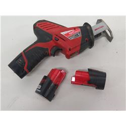Milwaukee Cordless Hackzall Reciprocating Saw & 2 Batteries