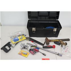 Multiple Misc Tools - Wrenches, Ratchets, Sockets, Hammers, etc in Case