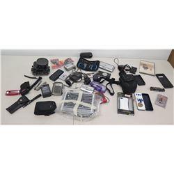 Multiple Misc Cameras, Xenon Lights, Underwater Camera Housing, Tools, etc