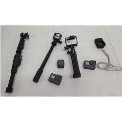 Hero & GoPro Cameras w/ Extension Selfie Sticks