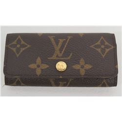 Louis Vuitton Paris 4 Key Case Wallet w/ Snap Closure