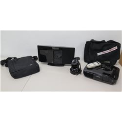 Epson EX51 Multimedia Projector, Panasonic SC-HC20 Stereo System, etc