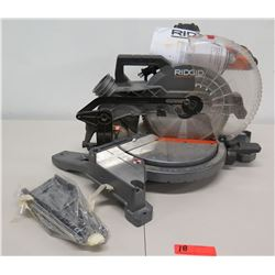 "RIDGID R4112 120V 60 HZ 10"" Dual Bevel Miter Saw w/ Laser Guide"