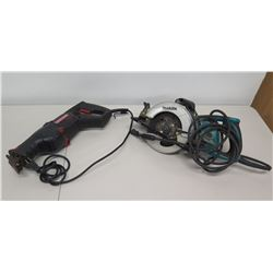 Makita 5477NB Hypoid Circular Saw & Craftsman 120V Reciprocating Saw