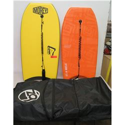 Qty 2 Boogie Boards - Morey Mach 7 & IMS 41.0 Hele w/ Carry Bag