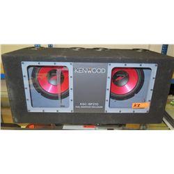 Kenwood KSC-BP210 Dual Bandpass Enclosure Subwoofer Speaker