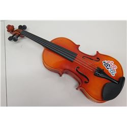 Wooden 4 String Acoustic Violin w/ Go Go Go Sticker
