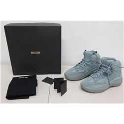 Season 7 Blue Thick Suede High Top Sneakers Size US 11 w/ Dust Bag & Box