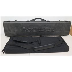 Qty 2 Rifle Cases - Canvas Blackhawk & Hard Case w/ Bear & Deer Design