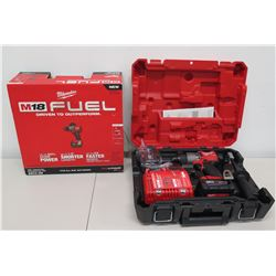 """New Milwaukee M18 Fuel 2804-22 1/2"""" Hammer Drill/Driver Kit in Case"""