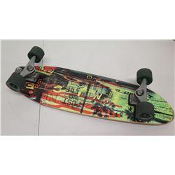 Carver Skateboard w/ Round House Wheels & Green Design