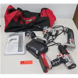 Qty 3 Porter Cable PCC716 Drill, PCC641 Impact Driver, PCC710 Oscillating Tool