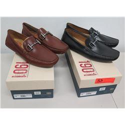 Qty 2 Men's Sz 11M 1901 MS Marco Shoes Cognac & Black Leather