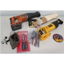 RIDGID R8442 & DeWalt DW938 Reciprocating Saw, Stanley Fat Max & Hand Tools