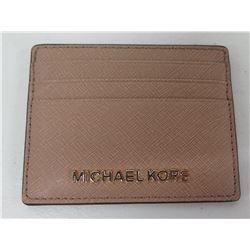 Michael Kors Tan 4 Credit Card Holder w/ Clear ID Pocket