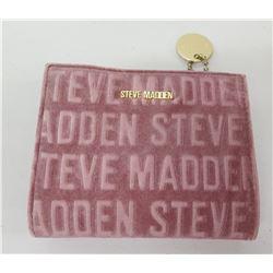 Steve Madden Pink Logo Clutch w/ Black Logo Inside