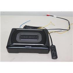 Kenwood KSC-SW11 Compact 150W Car Subwoofer Speaker & Remote