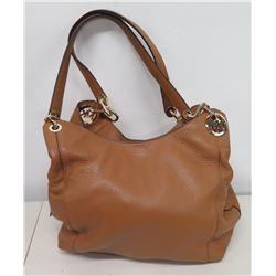 Authentic Michael Kors Tan Pebble Leather Tote Bag Purse