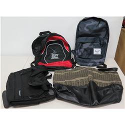 Qty 4 Backpacks - Herschel, 2017 Summer Institute, Magellan's & Tan Duffle