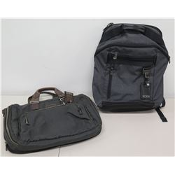 Qty 2 Bags - Tumi Backpack & Jen Tote or Laptop Case