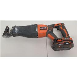 RIDGID R8641 18V Reciprocating Saw w/ X4 3.0 Ah High Capacity Battery