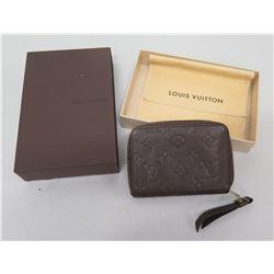 Louis Vuitton Paris Logo Zipper Card Holder w/ Change Purse in Box