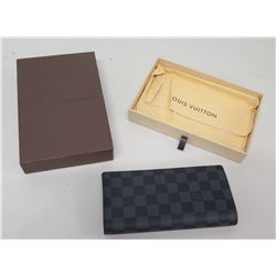 Louis Vuitton Checkered Folding Wallet w/ Card Slots & Change Purse, in Box