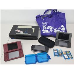 Qty 3 Nintendo Handheld Game Consoles
