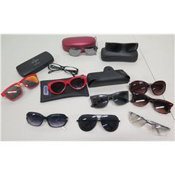 Qty 11 Pair Sunglasses & 5 Cases - Ray Ban, Izod, Baby Phat, etc