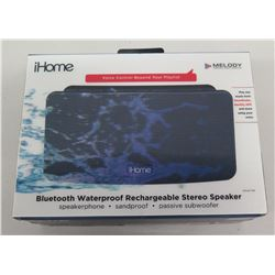 New iHome Bluetooth Waterproof Rechargeable Stereo Speaker in Box