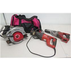 Craftsman Laser Trac Saw, Hilti & Milwaukee Reciprocating Saws & Reebok Bag