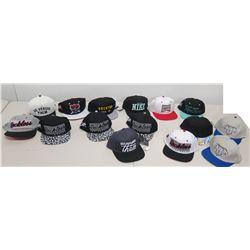Qty 15 New Baseball Caps: Nike, Reckless, Brihton, Diamond Life, etc