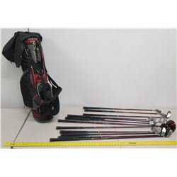 Qty 12 Royal Scot Golf Clubs & Putters w/ Tommy Armor Golf Bag