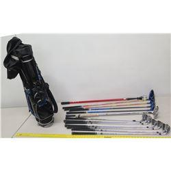 Qty 13 Mizuno JPX,  Winn & 7 cgb Golf Clubs & Putters w/ Tommy Armor Golf Bag