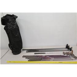 Qty 13 X-Yard TXT Senfina & TR-X Golf Clubs & Putters w/ Black Golf Bag