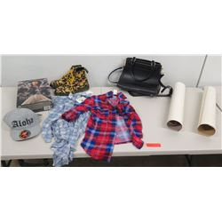 Misc Clothing, Kona Historical Society Prints, Black Tote Bag, Shirts, Aloha Cap, etc