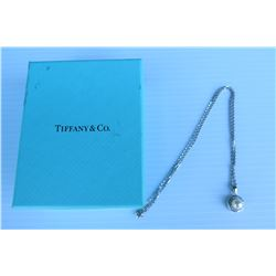 Tiffany Pearl Pendant with Chain