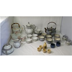Misc. Fine Japanese Tea Service Sets (Noritake, Seyei, etc) & Royal Worcester England (not from HPD)