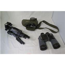 Tripod, Fujinon Binoculars and Steiner Commander 3 Binoculars (missing rotating eyepiece) - not from