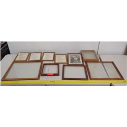 Misc. Small Wooden Art Frames (4 with the Lord's Prayer in Hawaiian & English) not from HPD