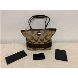 Coach Monogram Bag, Checkbook Holder, Credit Card Holder, etc