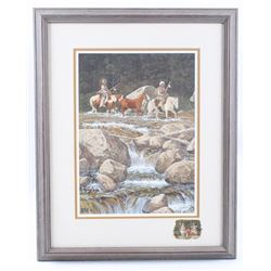 "Original Ron Stewart ""A Fording Place"" Watercolor"