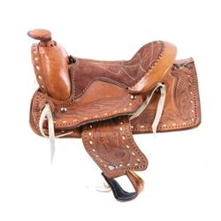 Western Leather Cowboy Saddle Salesman Sample